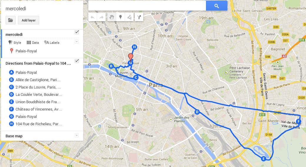 itinerari per parigi