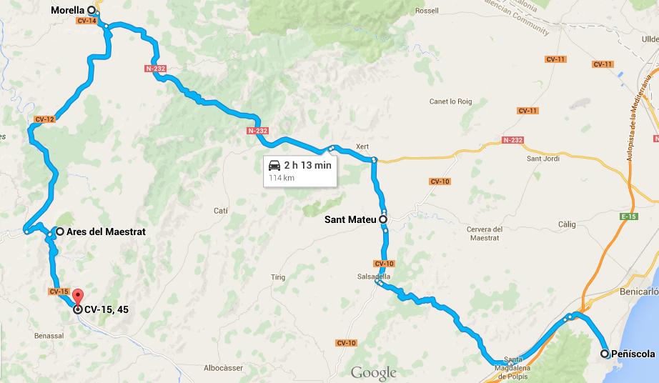itinerario di 3 giorni a nord di valencia