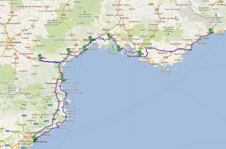 Cartina Stradale Costa Azzurra.Manda I Suoceri In Vacanza On The Road