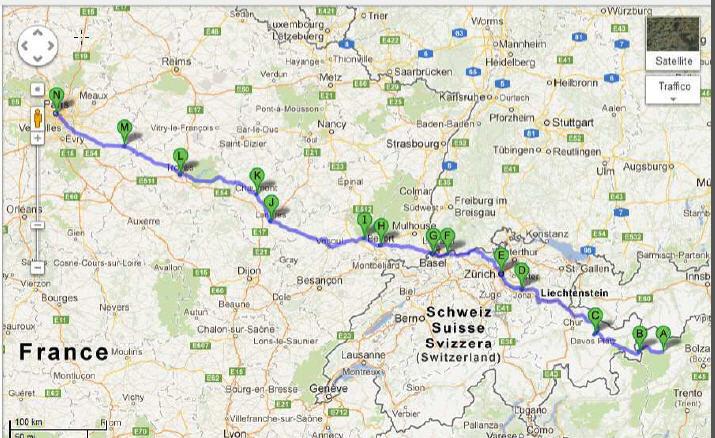 itinerario francia